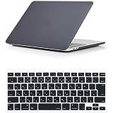 Se7enline MacBook Pro 15インチ ハードケース2009-2012年 旧型CD-ROM搭载専用+日本語キーボードカバー(JIS配列)対応モデル:[旧型MacBook Pro 15 インチA1286] ブラック