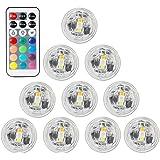 BigFox LED潜水キャンドルライト リモコン付き 防水 花瓶ライト 小型ローソクライト 全13色に切替 電池式 ク…