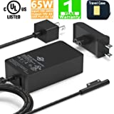 Surface Pro Surface Laptop Charger [UL Listed] 65W Power Adapter Compatible with Microsoft Surface Pro X Pro 7 Pro 6 Pro 5 Pr