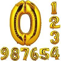 CCINEE 90cm 数字0 誕生日 数字 バルーン 風船 ナンバー  風船 数字バルーン ゴム風船 誕生日 パーティー飾りに
