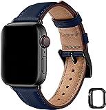 MNBVCXZ コンパチブル apple watch バンド 44mm 42mm 40mm 38mmに対応,apple watch バンド,交換用アップルウォッチバンド コンパチブル ベルト互換性のある Apple Watch SE, iWatch Series 6/5/4/3/2/1 (42mm/44mm, ダークブルー/ブラックアダプター)