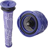 SODIAL 1 Pre-Filter and 1 HEPA Filter kit for Dyson V6 Absolute Cordless Stick Vacuum. Replaces Part # 965661-01 and 966741-0