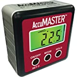 Calculated Industries 7434 AccuMASTER 2-in 1 Magnetic Digital Level and Angle Finder / Inclinometer / Bevel Gauge, Latest MEM