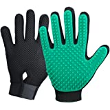 2020 New Version Pet Grooming Brush, Enhance Pet Grooming Glove with 255 Tips, Deshedding Glove for Dog and Cat, 1 Pair Left