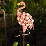 Homeimpro Garden Solar Lights,Flamingo Pathway Outdoor Stake Metal Lights,Waterproof Warm White LED for Lawn,Patio or Courtya