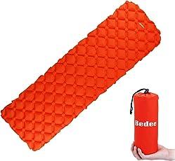 エアーマットBedee エアーベッド キャンプ 車中泊 防災 マット コンパクト 超軽量 防水 収納袋付き シングル テント 寝袋 レジャー