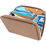 [MALTA] ミニ財布 レディース ラウンドファスナー インナー スカーフ 薄型 牛革 カラフル スカーフ 小さい財布 コンパクト 薄い 軽い 財布 小銭入れ カード入れ 大容量 全3色