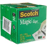 Scotch MagicTape, 3 Rolls Value Pack, 3/4 Inch X 36 Yards