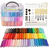 Polymer Clay, 60 Colors Shuttle Art 1.3 oz/Block Oven Bake Modeling Clay Kit with 19 Sculpting Clay Tools and Accessories, No
