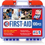 Be Smart Get Prepared 100 Piece First Aid Kit, Clean, Treat and Protect most injuries with the kit that is great for any home