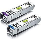 10Gtek for Cisco GLC-BX-U and GLC-BX-D a Pair of 1000BASE SFP Bidi Transceiver Module 20KM