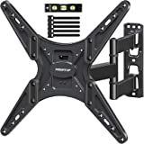 MOUNTUP TV Wall Mount, Full Motion Tilting TV Mount Bracket for Most 26-55 Inch Flat Curved TVs with Swivels Articulating Arm