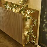 Decorative Eucalyptus Garland Lights| LED Lights with 96 Warm White Decorations Indoor| Battery Operated Decorative Lights fo