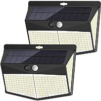 【最新昇級版 2個セット】センサーライト 288LED ソーラーライト 4面発光 太陽光発電 人感センサー 3つ知能モー…