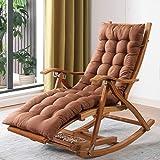 折りたたみロッキングチェア(椅子が含まれています)ラウンジチェアシートクッションレジャーチェアソフト背もたれノンスリップソファクッション