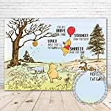 Winnie the Pooh Baby Shower Backdrop Gender Neutral 7x5 Red Hot Air Balloon Wild Adventure Pooh Background for Birthday Party