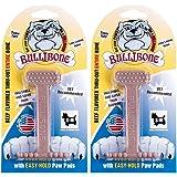 Bullibone Nylon Dog Chew Toy Small Nylon Bone - Improves Dental Hygiene, Easy to Grip Bottom, and Permeated with Flavor (2-Pa