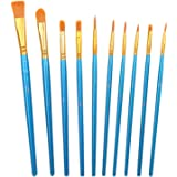 CCINEE Acrylic Paint Brushes Set, 20Pcs Artist Paintbrushes for Paint Brushes Oil Watercolor Beginner/Kids Arts Crafts Suppli