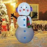 GOOSH 6Foot High Christmas Inflatable Snowman Yard Decoration, Indoor Outdoor Garden Inflatable Christmas Decoration.