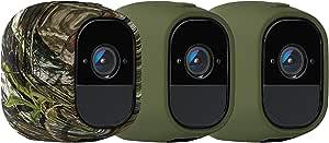 【Arlo 純正品】Arlo Pro用 カメラカバー3個セット(迷彩×1、緑×2) VMA4200-10000S
