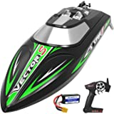 VOLANTEXRC Brushless RC Boat for Kids and Adults High Speed Remote Control Boat with Self-Righting & Reverse Function for Poo
