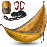 ETROL Large Hammock Camping Lightweight Parachute Portable Hammocks for Travel, Indoor, Outdoor Backpacking, Beach Includes T