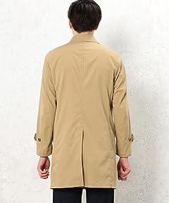 Polyester Balmacaan Coat 3225-149-2090: Beige
