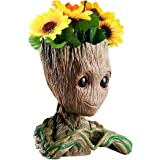 B-BEST Guardians of The Galaxy Groot Pen Pot Newest Version Tree Man Pens Holder or Flower Pot with Drainage Hole Perfect for