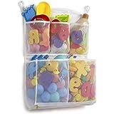Tenrai Mesh Bath Toy Organizer, 4 Ultra Strong Hooks, Bathtub Storage Bag, Multi-Purpose Baby Toys Net, Toddler Shower Caddy