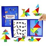 木製ジグソーパズル磁気パズルシェイプブロックジグソーブックブレインティーザースタッキングゲーム早期学習チャレンジIQおもちゃギフトキッド幼児年齢3+歳