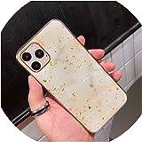 for iphone11、ホワイト用金箔マーブルスパークルスパンコールソフトクリアシリコンTPUケースカバーfor iphone XのX XRの11プロマックス、