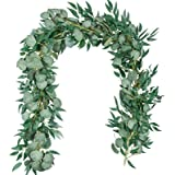 TOPHOUSE Eucalyptus Garland 1pack-Eucalyptus Garland & 1pack-Willow Garland