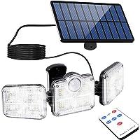 A-ZONE センサーライト 3灯式 230LED ソーラーライト IP65防水 防犯ライト 屋外照明 壁掛け可能 電気…