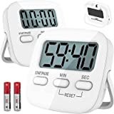 T Tersely 2 Pack Digital Kitchen Timer with AAA Battery Included, With Countdown,Loud Alarm,Auto-Off, Magnetic Back,Big Digit