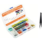 Makeronics 560 Pieces Jumper Wire Kit with 14 Lengths for Breadboard Prototyping Solder Circuits | Electronics Experiment | A
