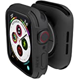 elkson Designed for Apple Watch Series 5 4 Bumper case 44mm iwatch Quattro Series Cases Protection Durable Military Grade Bla