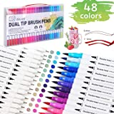 [48 colors] art marker pen, double-headed coloring pen, color pen, watercolor pen, used for calligraphy, painting, sketching,