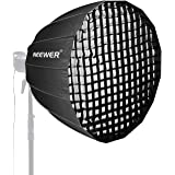 Neewer 38 inches Deep Parabolic Softbox with Bowens Mount, Removable Internal&External Diffuser and Grid, Quick Folding Softb