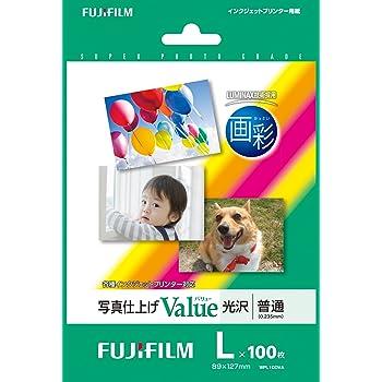 FUJIFILM 写真用紙 画彩 光沢 L 100枚 WPL100VA