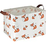 HIYAGON Rectangular Storage Boxes,Fabric Storage Bin Organizer,Collapsible Storage Basket for Toy, Clothes,Books.Shelves Bask