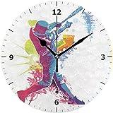 Chovy 掛け時計 置き時計 北欧 おしゃれ かわいい サイレント 連続秒針 壁掛け時計 インテリア バスケットボール 野球 スポーツ 運動 グリーン 部屋装飾 子供部屋 プレゼント