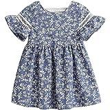 Zanie Kids Baby Girl Dress Short Sleeves A Line Clothing Newborn Summer Playwear Infant Cotton Cute Woven Clothes