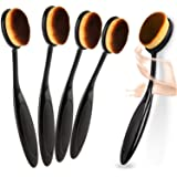 5Pcs Oval Makeup Brush Set Tooth Design Makeup Brush For Applying Cosmetic Products