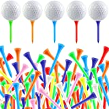 Owevvin 300 Pack Wood Golf Tees, Bulk Color Golf Tees, Durable Tees, 2-1/8 Inch