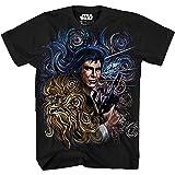 STAR WARS Starry Night Chewbacca Han Solo Van Gogh Adult Men's Graphic Tee Apparel T-Shirt