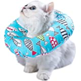 Adjustable Cat Recovery Collar Soft Cone for Cat's Head Wound Healing Protective Cone After Surgery Elizabethan Collars for P
