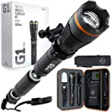 DanForce G1 PRO:Patented Tactical Flashlight with Holster, Weapon Mount, Remote Switch. Rechargeable High 1080 Lumens Turns T