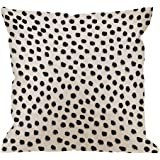 HGOD DESIGNS Polka Dots Decorative Throw Pillow Cover Case,Brush Strokes Dots Cotton Linen Outdoor Pillow Cases Square Standa