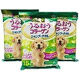 JOYPET (ジョイペット) シャンプータオル うるおうコラーゲン 中型・大型犬用 15枚入 ×3個セット まとめ買い