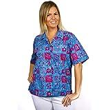 Artisan Outfitters Women's Catalina Island Batik Cotton Hawaiian Shirt